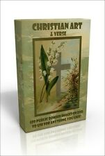 Christian Art & Verse - 500 public domain images & verses on DVD to use anyhow!