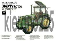 A3 John Deere 3140 Tractor Poster Sales Brochure Cutaway Advert Britains Farm