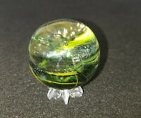 "Handmade Scott Meyer MARBLE 1 3/4""+  Swirl Mint ECFF"