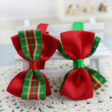 2x Dog Bow Tie Cat Pet Acccessory Adjustable Necklace Collar Puppy Christmas TH