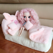 Takara Blythe Doll Furniture--The lovely Pink Bed 4 Pieces