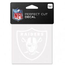 "Oakland Raiders 4"" x 4"" White Logo Truck Car Auto Window Die Cut Decal Color"