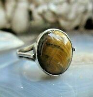 ring silber 925 mit tigerauge cabochon  16 mm ca 80er top 4,4g