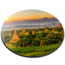 Round Mouse Mat - Temples Bagan Myanmar Burma Office Gift #3528