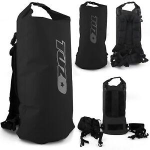 40L Roll Top Waterproof Backpack Rucksack Dry Bag Sack Black 40 Litre