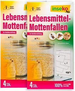 8 x inseko Lebensmittelmotten Falle insektizidfrei und geruchlos MADE IN GERMANY