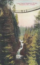 Lynn Canyon Suspension Bridge VANCOUVER BC Canada 1930-45 Coast Postcard C P 164