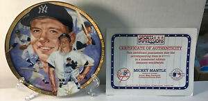 Mickey Mantle sports impressions collectors plate limited edition hof yankees