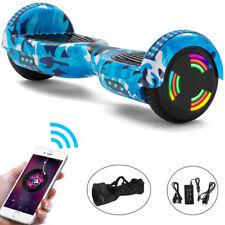 6,5 Zoll Hoverboard Blau Camo Elektro Scooter Bluetooth LED Kinder E-Skateboard