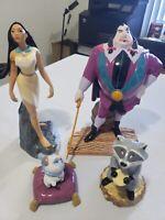 Vintage Disney Pocahontas Figurines w/ Ratliff & Percy & Meeko Porcelain RARE!