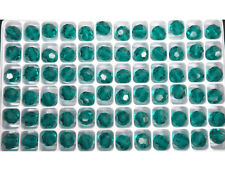 72 Genuine Preciosa Czech Round Mc Crystal Beads 8mm Blue Zirc0n color