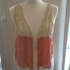 Waist Length Lace None Casual Waistcoats for Women