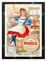 Historic Lake Superior Mills Wonder flour, 1895 Advertising Postcard