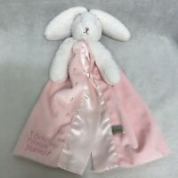 """Bunnies By The Bay Blossom Bunny Blanket Best Friends Indeed Pink Lovey 15"""""""