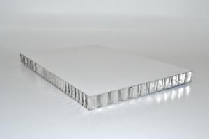 Alucore -  Aluminium Wabenplatte - Aluminium Wabenverbundplatte - Handmuster