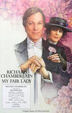 MY FAIR LADY Broadway Theater Window Card Poster; Richard Chamberlain