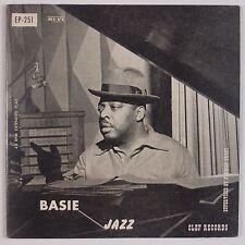 "COUNT BASIE: Basic Jazz CLEF 7"" EP 45 Super EP-251 Rare 50s ORIG VG++ NICE!"
