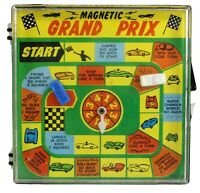 "Magnetic Grand Prix Handheld Travel Game Vintage 5"" x 5"" No. 896"
