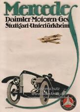 Mercedes Daimler Motoren Ges. Stuttgart DMG Autos Plakat Braunbeck Motor A1 207