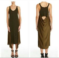 T Alexander Wang Open Cowl Back Midi Tank Dress Size Medium