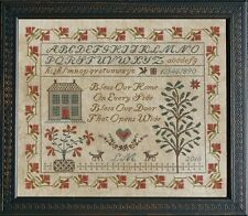 """""""Bless Our Home Sampler"""" Cross Stitch Pattern by LA~D~DA - Sayings - Alphabet"""