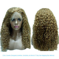 Long Curly Wig Glueless Lace Wigs Women Indian Remy Human Hair Lace Front Hot
