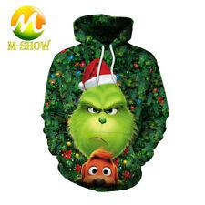Xmas Cosplay Grinch 3D Digital Printing Hoodie Men's Fasion Hip Hop Sweatshirt