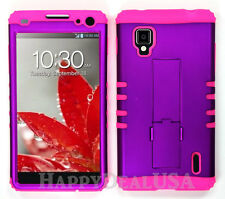 KoolKase Hybrid Silicone Cover Case for AT&T LG Optimus G E970 - Purple (R)