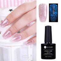 Rose Gold Luminous UV Gel Nail Polish Glitter Fluorescent Glow in Dark Gel