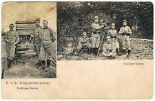 AK K.u.k. Telegraphenregiment - Drahtlose Station/Optische Station Soldaten RARE
