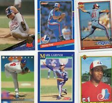 34 Montreal Expos vintage baseball cards most VG condition early 1990s in color