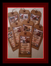 CHRISTMAS - SPECIAL DELIVERY FROM SANTA CLAUS -  PRIMITIVE HANG TAGS