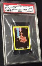 1974 MICK JAGGER *HOF* PSA 9 MINT VLINDER SHARP & CLEAN (SUPER RARE GRADE)