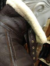 Vintage B3 Sheepskin Leather Flight Jacket Shearling Bomber HAND CRAFTED MED
