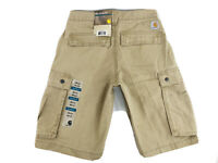 NEW Carhartt Relaxed Fit Rugged Cargo Shorts Tan Men's Size 28 NWT