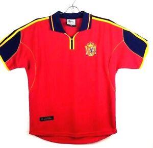 2002 World Cup Medium M Jersey shirt Mendieta #8 Spain soccer futbol red jersey