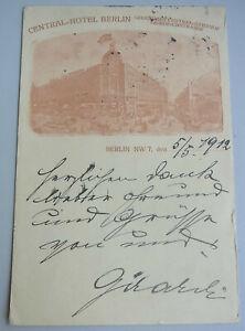 Schauspieler Alexander GIRARDI (1850-1918): Sign. AK BERLIN 1912, CENTRAL-HOTEL
