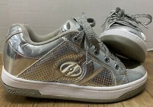 Heelys Silver Split Chrome Shoes Youth Size 4M (Womens Size 5) 770449 **So Cool!