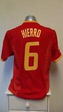 Spain Home Football Shirt Jersey 2002 HIERRO 6 Medium
