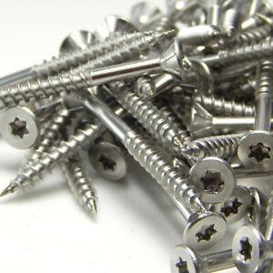 Spanplatten Schrauben Edelstahl V2A Torx 3x30-6x120 Teilgewinde Holzschrauben j