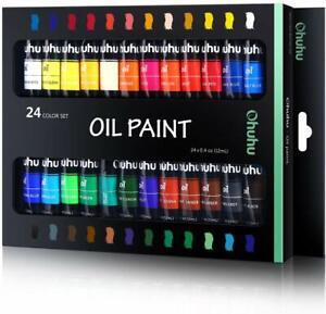 Ohuhu Oil Paint Set, 24 Colors, 12ml x 24 Tubes- Art Painting PROFESSIONAL GRA