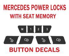 MERCEDES BENZ POWER DOOR LOCK BUTTONS WORN PEELING DECAL REPAIR STICKERS
