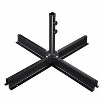 Patio Umbrella Metal Cross Base Stand Frame Supporting Outdoor Offset Market