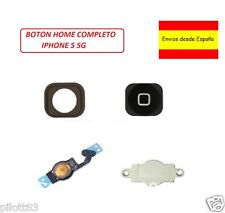 KIT 4 en 1 Boton Home Flex chapa pegatina fijación iPhone 5 NEGRO
