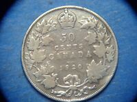 Canada 50 Cents KM# 25a 1920(no mint mark).     A1001   I COMBINE SHIPPING
