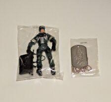 Gi Joe Vs Cobra 2002 Fan Club Reservist Fight Nuke & Dog Tag New Sealed