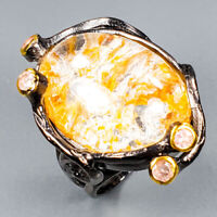 Ghost Quartz Ring Silver 925 Sterling Special Sale Jewelry Size 6.25 /R144611