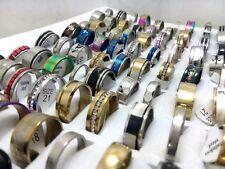 500pcs MIX Fashion Men Women Stainless Steel Rings Wholesale Jewerly