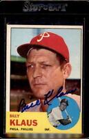 Billy Klaus 1963 Topps #551 Philadelphia Phillies Signed Baseball Card DECEASED