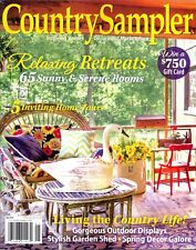 Country Sampler May 2018 Relaxing Retreats Inviting Homes Living The CountryLife